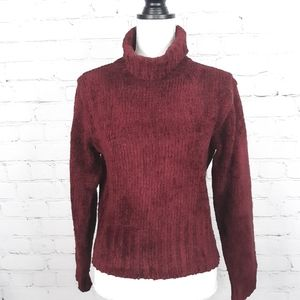 NEWPORT NEWS Earth Red Chenille Turtleneck Sweater